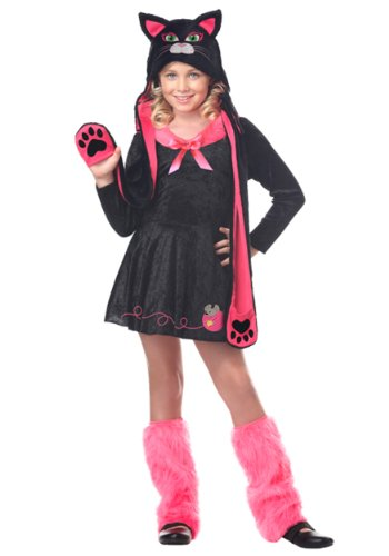 Girls Sassy Cat Animal Costumes (California Costumes Sassy Cat Child Costume, Medium)