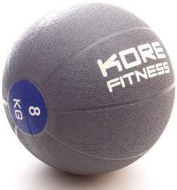 Kore Fitness – Balón medicinal de goma (8 kg para fuerza y Fitness ...
