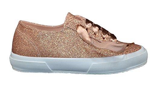 Silber Turnschuhe Schnürsenkel Schuhe Superga Gold Frau DPB0 Grau Silber Rosa Fuß aqfwt1O
