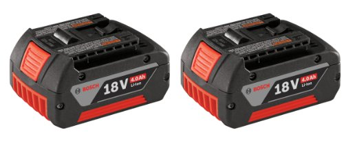 Bosch BAT620-2PK 18-volt Lithium-Ion 4.0 AH Battery with Digital Fuel Gauge, 2-Pack ()