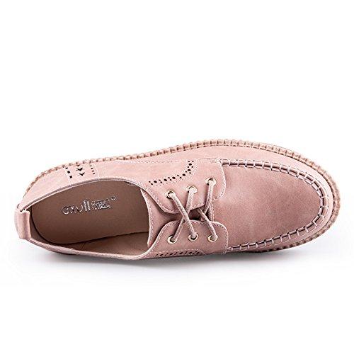 Boca zapatos En Casuales La Plataforma A Primavera zapato De Espesar Bullock Zapatos Profunda Señora encaje waqvFfx