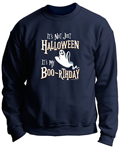 Halloween Birthday Gifts Halloween Birthday Banner Halloween Birthday Gifts It's My Boo-rthday Premium Crewneck Sweatshirt Large Navy ()