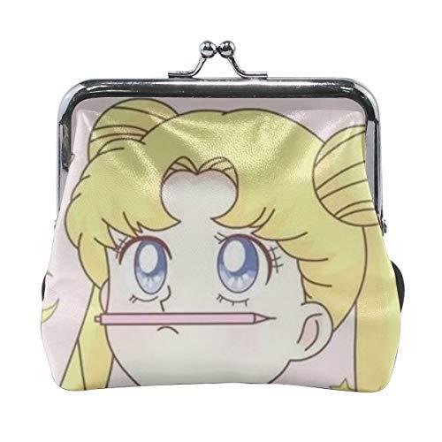 Classic Exquisite Cute Sailor Moon Microfiber Leather Buckle Coin Purse -
