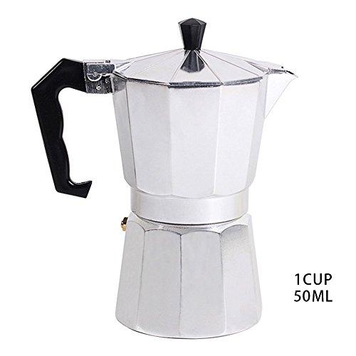 Estufa cafetera de espresso Filtro de café para Gas y eléctrica aluminio