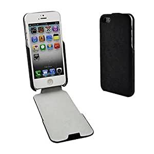 HOR Angibabe PU y tirón de la caja del cuero del soporte para el iPhone 5 / 5S , Marrón
