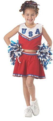 Fancy USA Child Girls Patriotic Cheerleader Dress Up Costume (Judge Robes Costume)