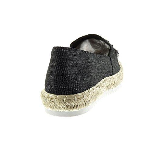 d3b0197f Lovely Angkorly Zapatillas Moda Alpargatas Mocasines Slip-on Suela de Zapatillas  Mujer Fantasía Bordado Cuerda