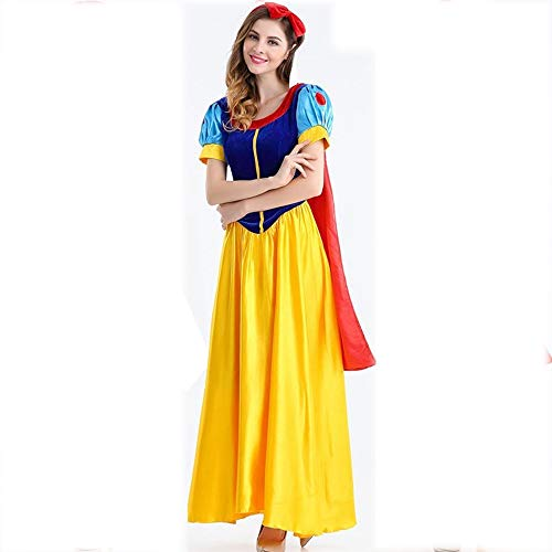 Yunfeng Witch Costume Halloween Cosplay Costume Snow White Dress up Girls Game Uniform Suit Party Costume -