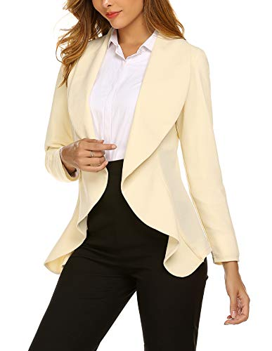 (Beyove Women's 3 4/Long Sleeve Lightweight Open Front Cardigan Blazer Jacket)