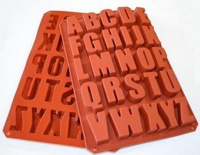 silicone alphabet baking mold - 2