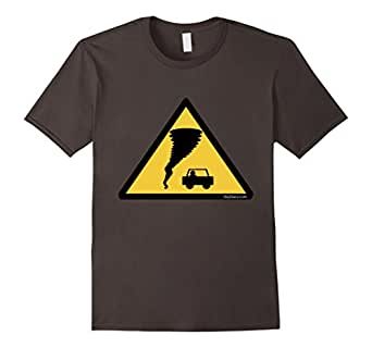 Men's Caution Tornado! Storm Chasers T-shirt 3XL Asphalt
