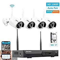Newest Strong Version Wifi Wireless Security Camera System Isotect 8ch Full Hd 1080p Video Security System 4pcs Outdoor Indoor Ip Security Cameras 65ft Night Vision And Easy Remote View 1tb Hdd