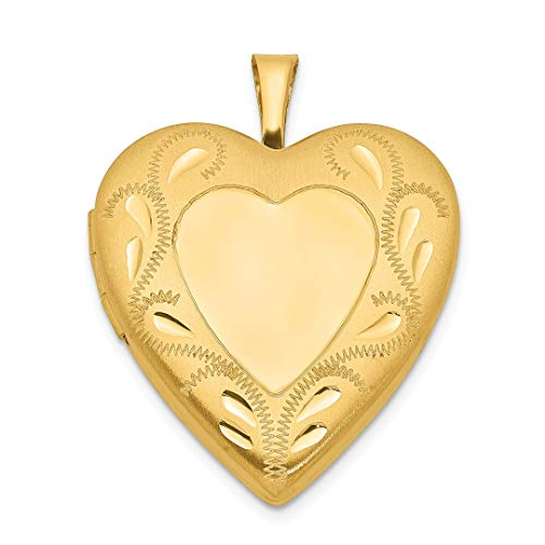 1/20 Gold Filled 2 Frame 19mm Heart Photo Pendant Charm Locket Chain Necklace That Holds Pictures Fashion Jewelry For Women Gift Set