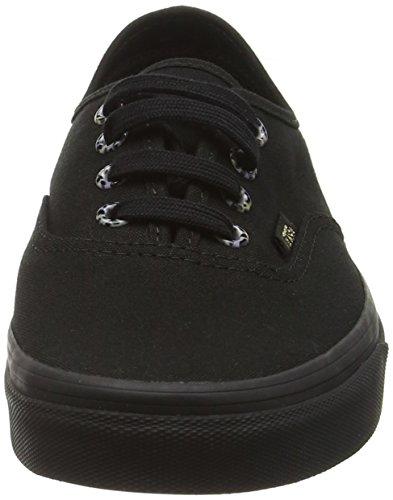 Vans Unisex-Erwachsene Authentic Sneakers Schwarz (Multi Eyelets cheetah/black)