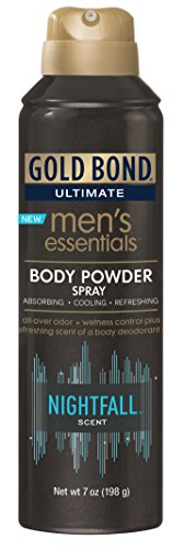 Gold Bond Men's Essentials Body Powder Spray 7 Ounce (Pack of 12) Nightfall Scent, Moisture Absorbing and Odor Control, Refreshing Scent of Body Deodorant ()
