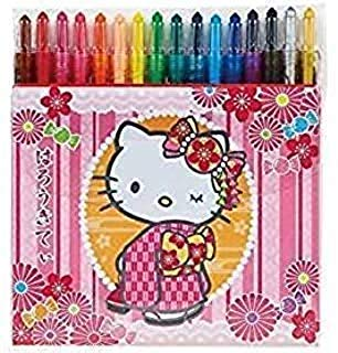 Sunday sanrio Hello Kitty 16 Twist Crayon Set
