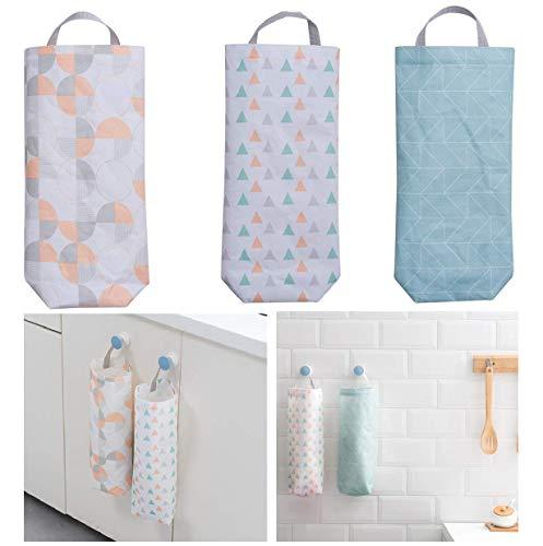 - Plastic Bag Holder (3 pack) Waterproof Wall Mount Grocery Dispenser Garbage Bag Organizer by YMHB