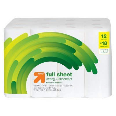 Full Sheet Paper Towels - 12 Giant Rolls - up&Up153; (Compare to Bounty174;)