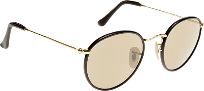 b1b93fceb1 Image Unavailable. Image not available for. Color  Ray-Ban 3475Q 112-53  Brown 3475Q Round Sunglasses Lens ...