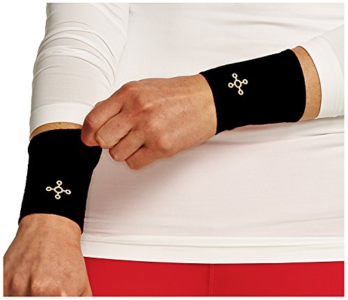 Tommie Copper Women's Recovery Affinity Wrist Sleeve, Black, X-Large