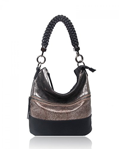 Fashion LeahWard® Leather Handbags Bags Tote Women's CW150906 Style Ladies Shoulder bag Faux For Bag black wrw15xUXq
