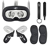Wireless : Face Silicone Cover Mask & Face Pad & Touch Controller Grip Cover & Knuckle Strap & Lens Protect Cover Set for Oculus Quest, Professional Silicone Protection Accessories,6-Piece Set