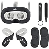 Face Silicone Cover Mask & Face Pad & Touch Controller Grip Cover & Knuckle Strap & Lens Protect Cover Set for Oculus Quest, Professional Silicone Protection Accessories,6-Piece Set