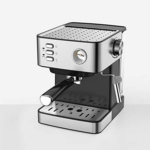 Máquina de espresso, Cafetera Espresso Steam & Pump 20 bar de presión/Termómetro observable/1.5 litros/850 vatios/Espuma…