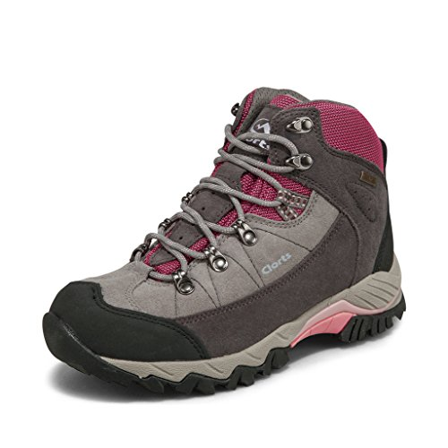 Clorts Women's Pink Suede Leather Uneebtex Waterproof Mid Hiking Boot 3B010A US6.5 by Clorts