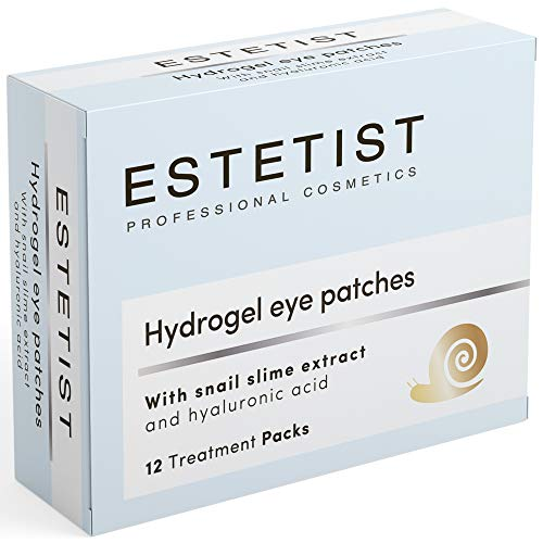 Estetist Under Eye Patches Eye Mask for Puffy Eyes, Dark Circles and Under Eye Bags Treatment With Hyaluronic Acid and Snail Slime Extract (Dark Circles Under Eyes Remedies That Work)