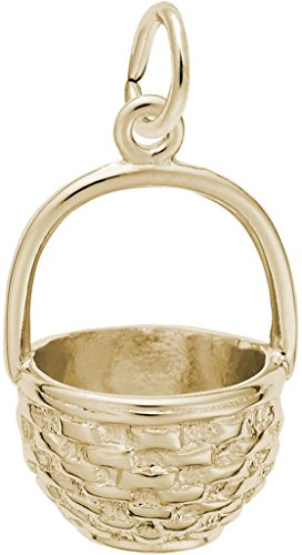 Rembrandt Easter Basket Charm - Metal - 14K Yellow Gold