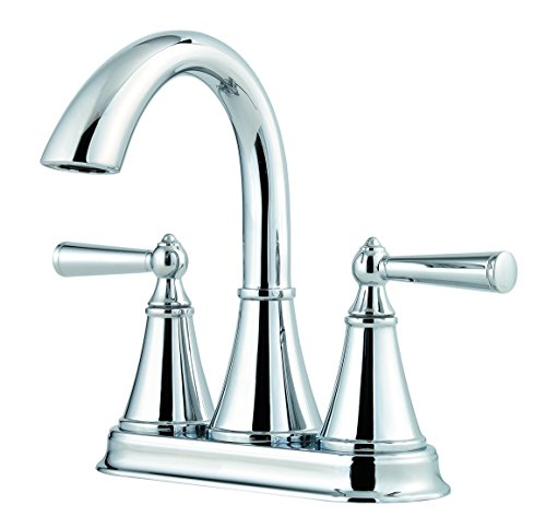 "Pfister LG48-GL0C Saxton 2-Handle 4"" Centerset Bathroom Faucet in Polished Chrome, 1.2gpm"