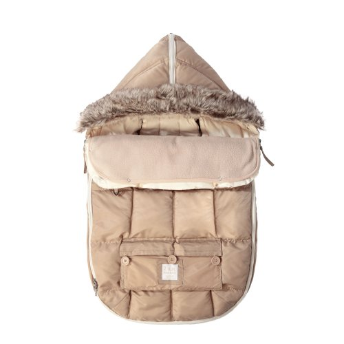 7AM Enfant ''Le Sac Igloo'' Footmuff, Converts into a Single Panel Stroller and Car Seat Cover - Beige,Medium by 7AM Enfant