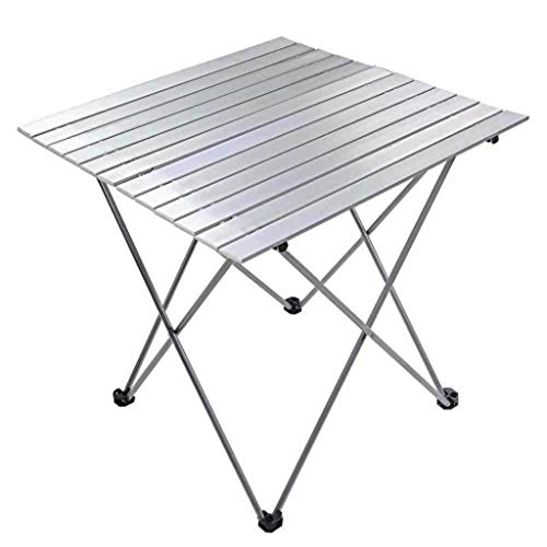 Heavy Duty Aluminum Roll Up Table Folding Camping Outdoor Indoor Picnic Camping Trips w/ Carry Bag #285 (Italian Outdoor Furniture Manufacturers)