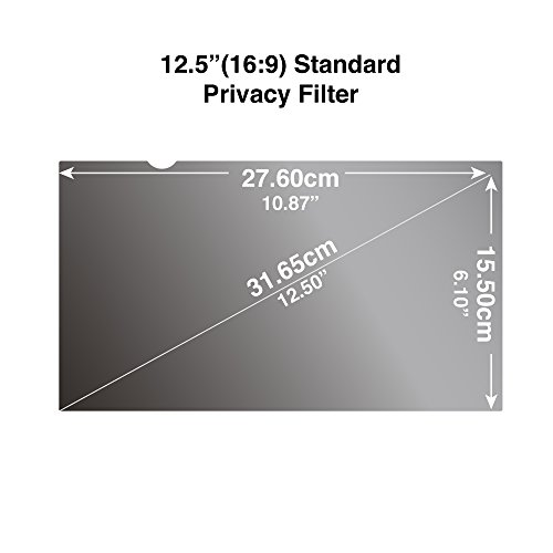 Privacy Filter for Wide Screen Laptop 12.5 inch 16:9 Screen Protectors 10.87 x 6.1 // 276 x 155mm