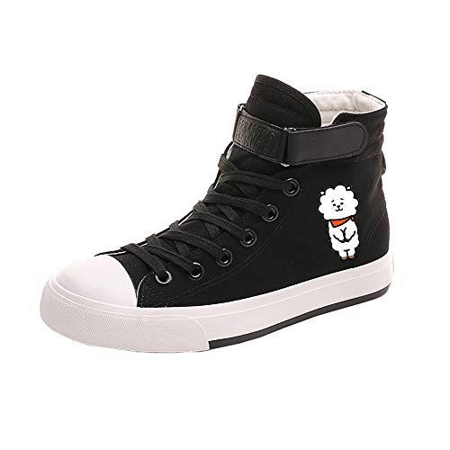 Zapatos Pareja Ocasionales Alta Lazada Bts Ayuda Lona Popular Black14 De Transpirables BfwCxCqO