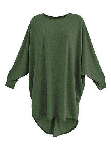 Fashion & Freedom - Camiseta de manga larga - para mujer caqui