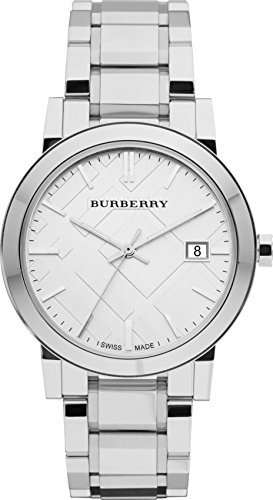 822138032971 - Burberry Silver Dial Stainless Steel Quartz Men's Watch BU9000 carousel main 0
