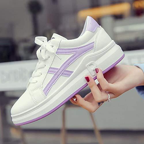 Femme Antidérapant Loafer Sneaker Laçage Blanc Chaussures Voyage Confortable Travail Adeshop Étudiant Toe Casual Mode Saisons Quatre Couleur Baskets Unie Simples Flat qvA7xE8A