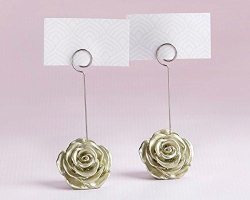 96 Light Gold Rose Place Card Holders by Kateaspen