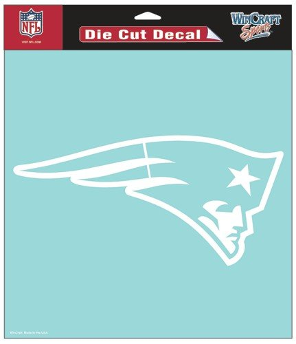 (Wincraft NFL New England Patriots WCR25654061 Perfect Cut Decals, 8