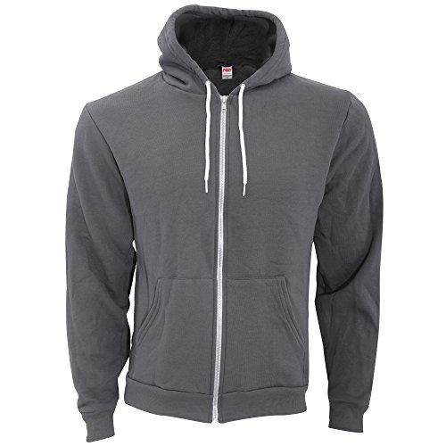 American Apparel Unisex Flex Plain Full Zip Fleece Hoodie