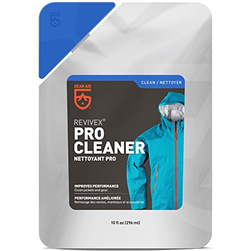 (Gear Aid Revivex Pro High-Tech Fabric Cleaner, 10 fl oz - Restores Water Repellency and Breathability - Safe for Use with Gore-TEX Jackets, Sleeping Bags and Tents )