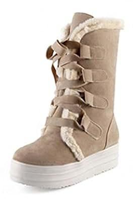 Amazon.com   Sfnld Women's Warm Fur Lined Winter Shoes