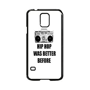Hip Hop was better before Custom Image Case, Diy Durable Hard Case Cover for Samsung Galaxy S5 I9600, High Quality Plastic Case By Argelis-Sky, Black Case New