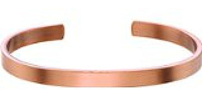 Amazon.com: pulsera de Cobre Macizo Pure Cuff Pulsera ...