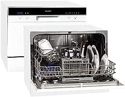 Exquisit GSP206 lavavajilla Encimera 6 cubiertos A+ - Lavavajillas (Encimera, Blanco, Tamaño completo (60 cm), Blanco, 6 cubiertos, 49 dB)