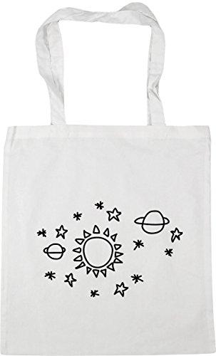 White Bag space x38cm 42cm litres Gym star Sun Shopping 10 Beach Tote pattern HippoWarehouse T8wOqEW