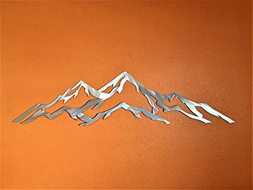 Aspen Colorado Mountain Ski Resort Metal Wall Art Skiing Snowboarding Backpacking Hiking Unique Home Decor