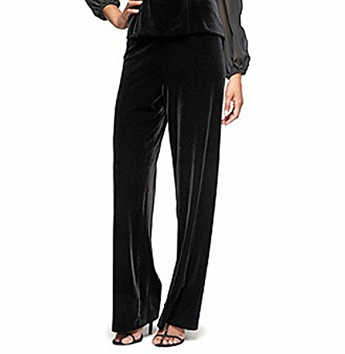 Alex Evenings Flat Front Velvet Women's Pull-On Pants $69